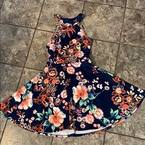 Beautiful floral skater dress